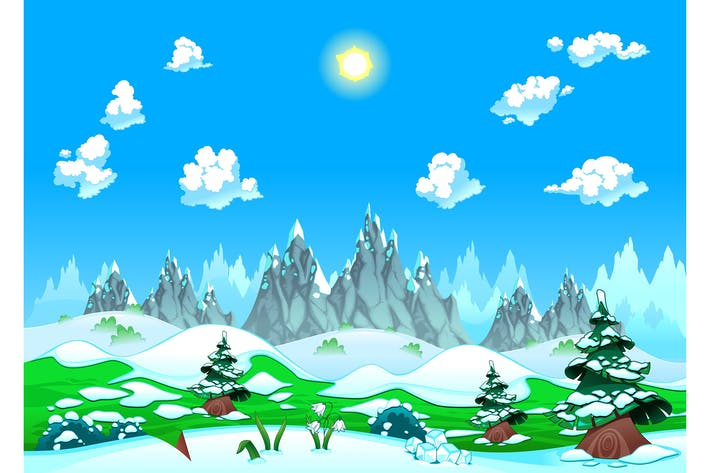 Thumbnail for Landscape with Snow and Mountains