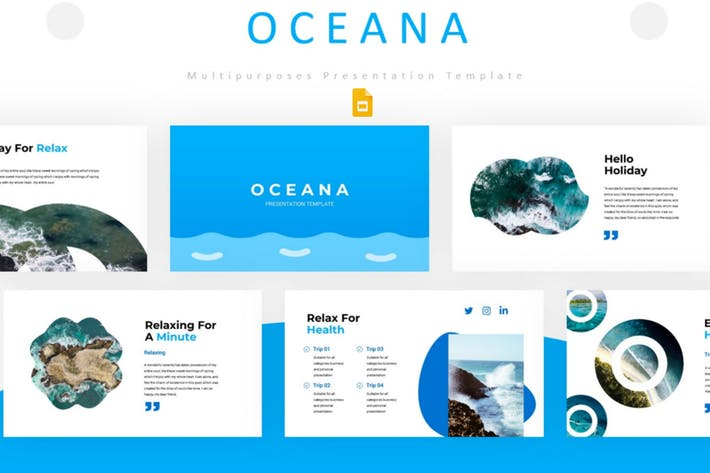 Thumbnail for Oceana - Google PräsentationsVorlage