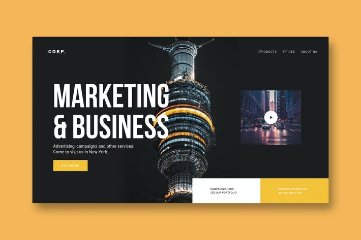 Thumbnail for Marketing & Business - Landing Page