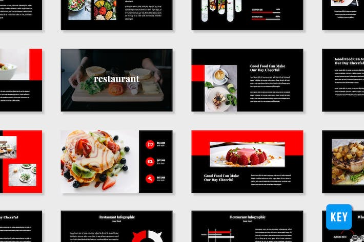 Thumbnail for Restaurant Presentation Template - (KEY)