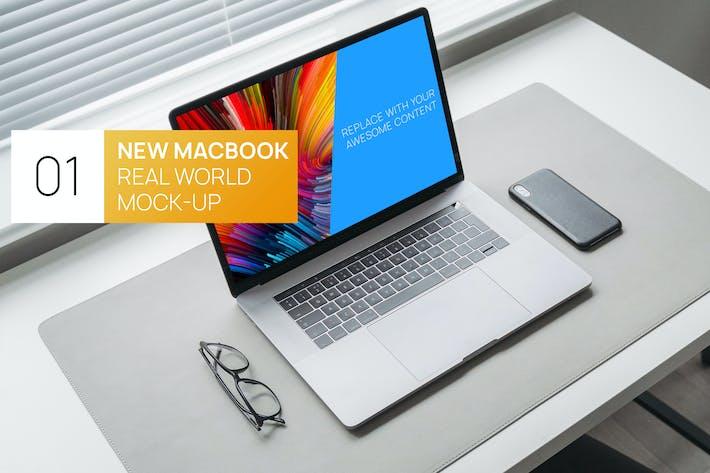 Thumbnail for Minimalistic MacBook 15 Touchbar Real World Mockup