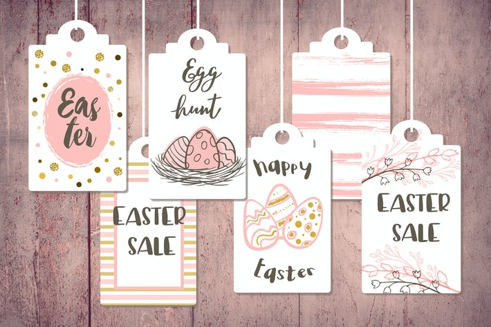 Thumbnail for Pink Easter Sale Tags