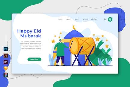Happy Eid Mubarak - Web & Mobile Landing Page