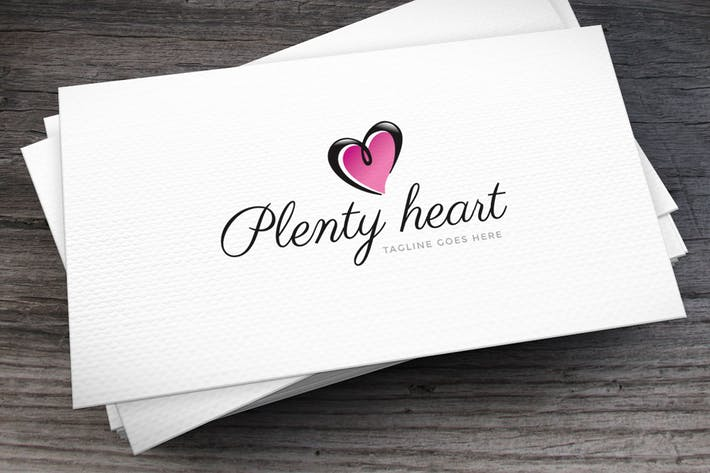 Thumbnail for Plenty Heart Logo Template