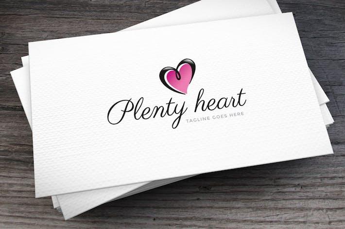 Thumbnail for Plenty Heart Logo Template