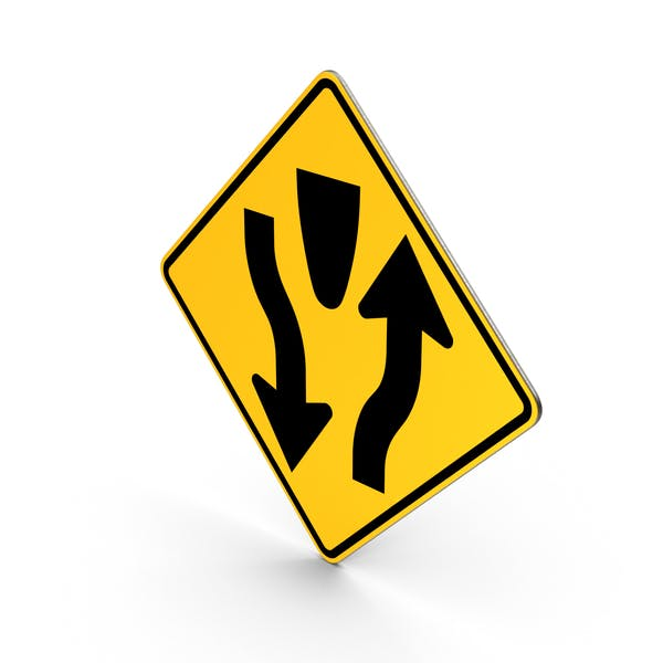 Divided Highway Sign