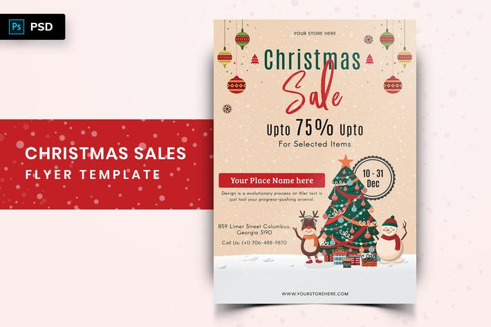 Thumbnail for Christmas Offer Sales Flyer-04
