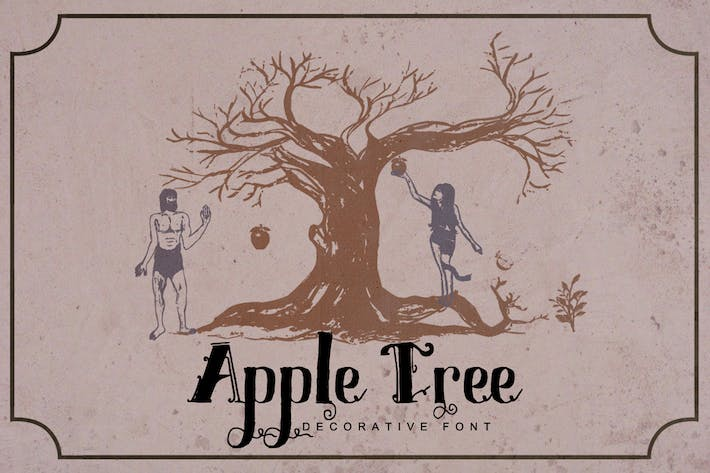 Thumbnail for Apple Tree - Decorative Font