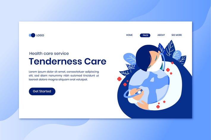Thumbnail for Tenderness Care Landing Page Template