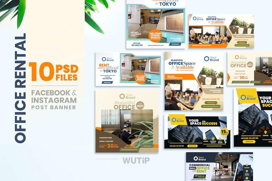Social Media Banners - Office Rental