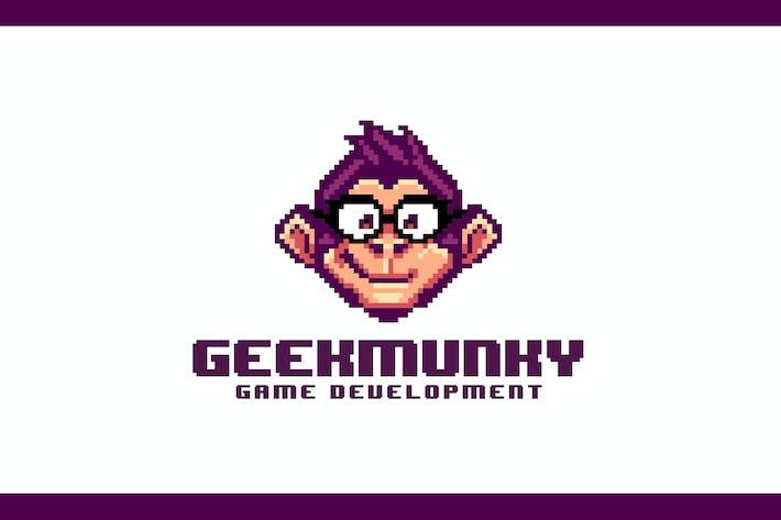 Thumbnail for Geek Monkey - Retro Pixel Art Logo