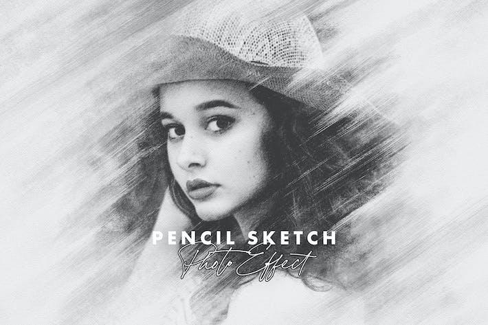 Смазанный карандаш Sketch Фото Эффект