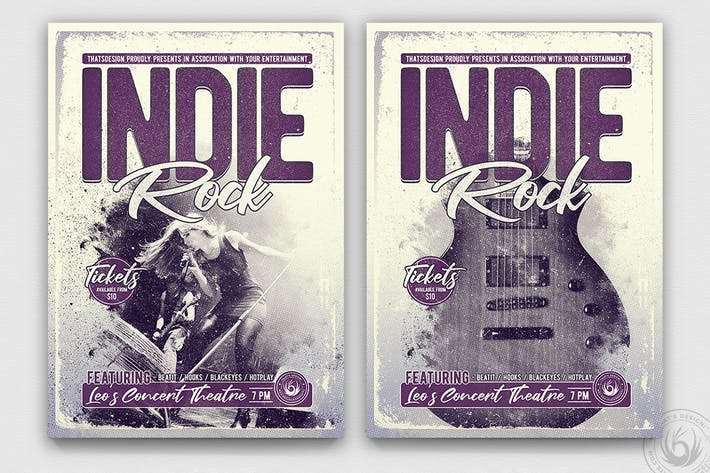 Thumbnail for Indie Rock Flyer Template V3