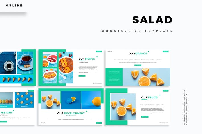 Thumbnail for Salad - Google Slides Template