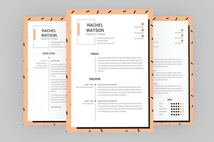 Thumbnail for Jaunty Resume Designer