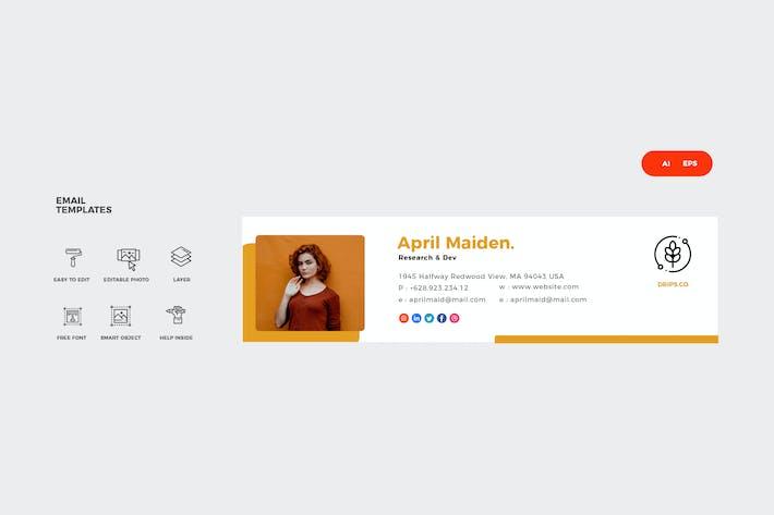Thumbnail for Firma de correo electrónico amarilla