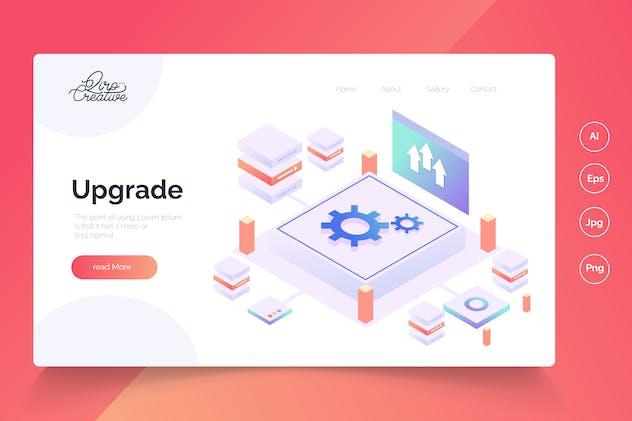 Upgrade - Isometric Landing Page