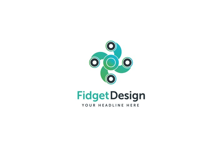 Thumbnail for Fidget Design Logo Template