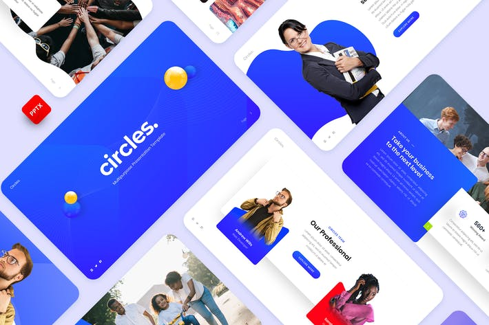 Thumbnail for Circles - Business PowerPoint Template