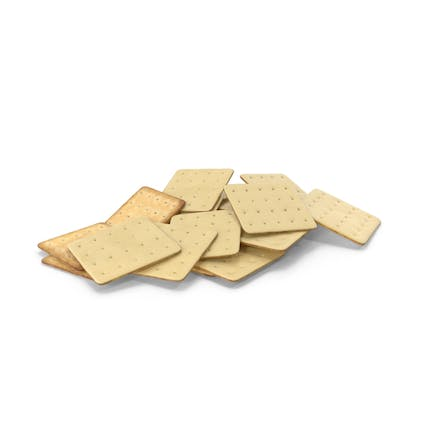 Pile of White Chocolate Covered Square Crackers