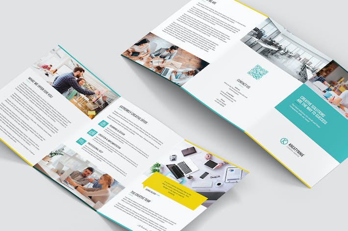 Thumbnail for Brochure – Creative Agency Tri-Fold A5