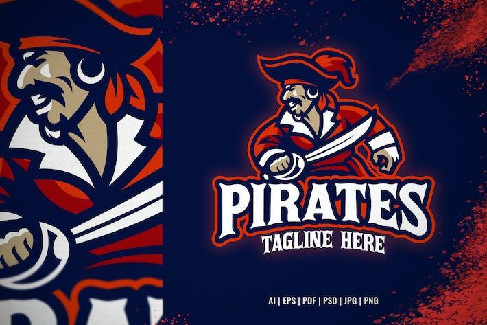 Pirate mascot sport and e-sport logo
