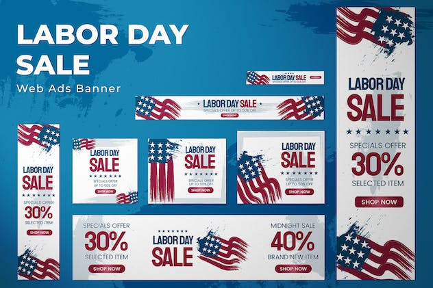 Labor Day - Web Ads Banners