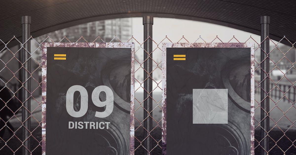 Download Street Poster Mockups 02 by StreetD