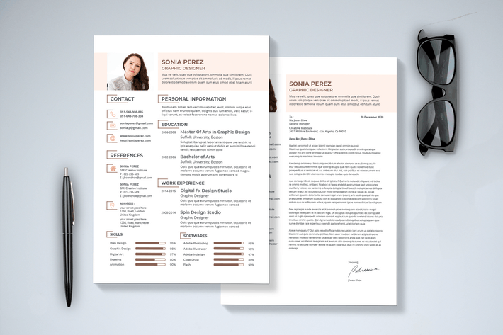 Thumbnail for Modern Resume & Cover Letter