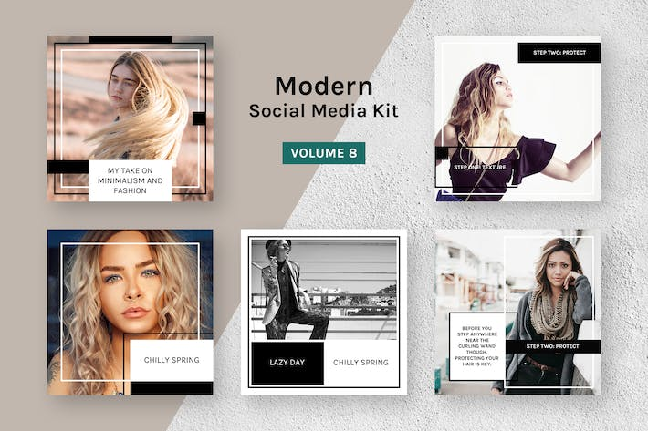 Cover Image For Modern Social Media Kit (Vol. 8)