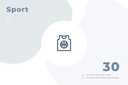 30 Sport Icon Set - Material