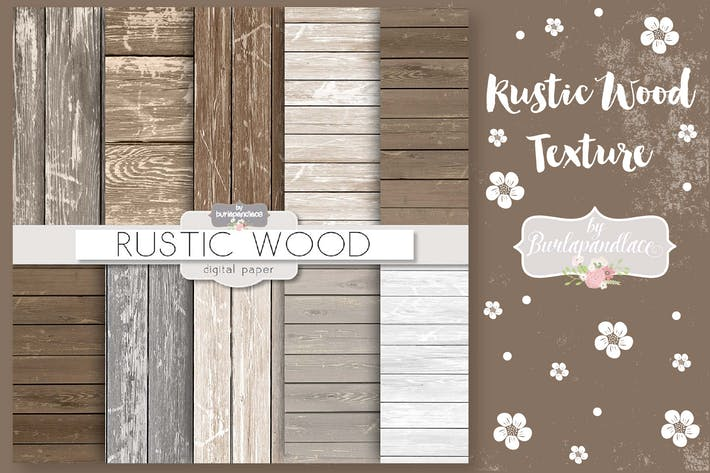 Thumbnail for Wood rustic digital paper