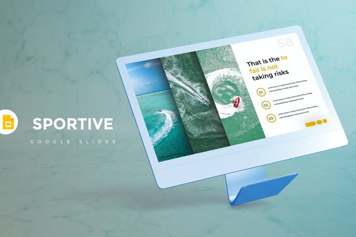 Thumbnail for Sportive - Google Slides Template