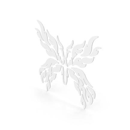 Schmetterling Aufkleber Weiß
