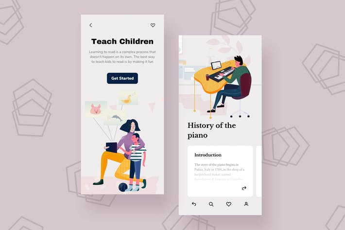 Thumbnail for Teach Mobile Interface Illustrations
