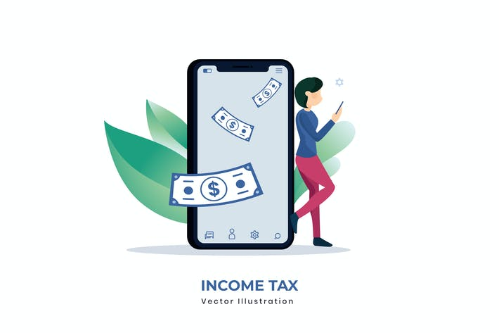 Thumbnail for Income Tax vector illustration