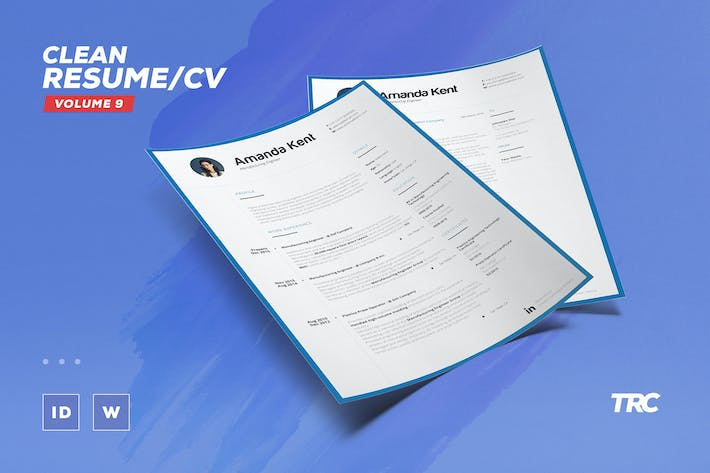 Thumbnail for Clean Resume/Cv Volume 9