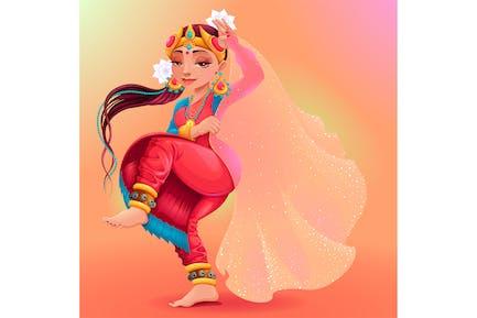 Indian Dancer Representing the Veil of Maya