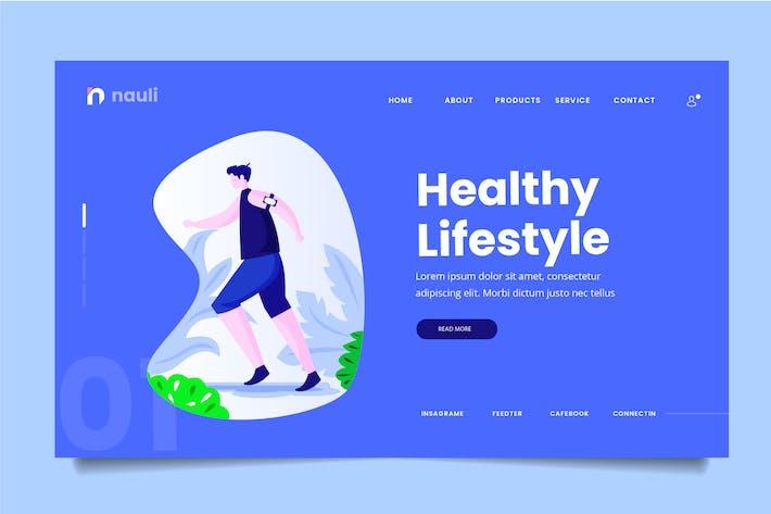 Thumbnail for Healthy Lifestyle Web Header PSD und AI Vektor
