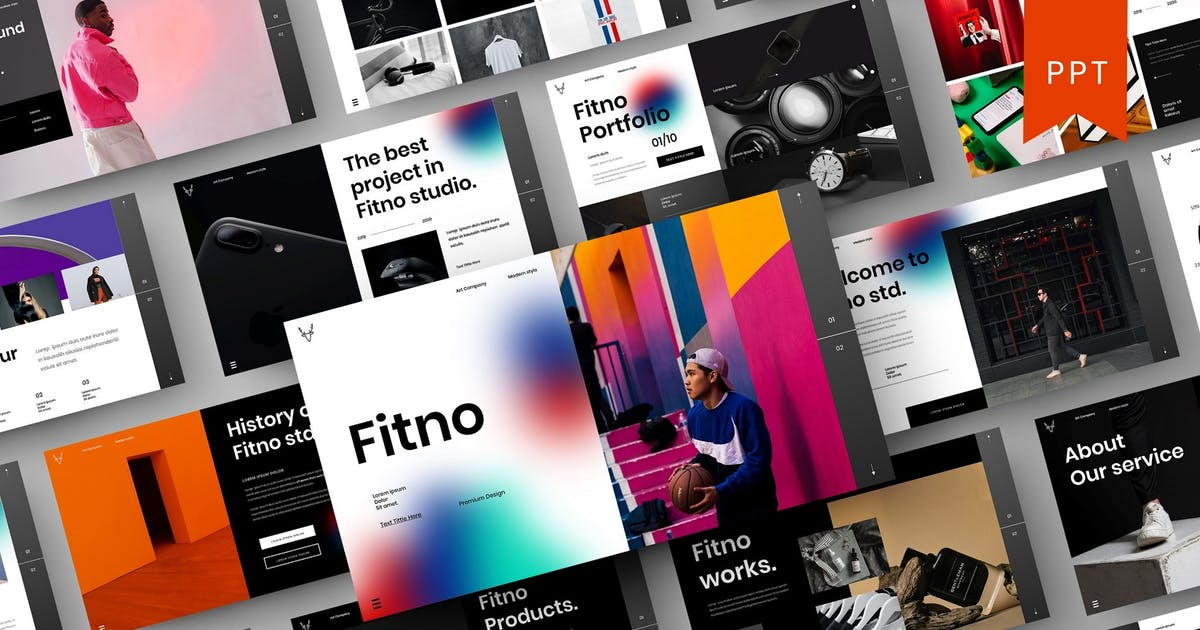 Download Fitno – Business PowerPoint Template by DensCreativeStudio