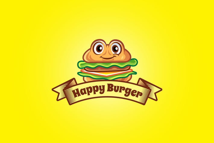 Thumbnail for happy burger - Mascot Logo