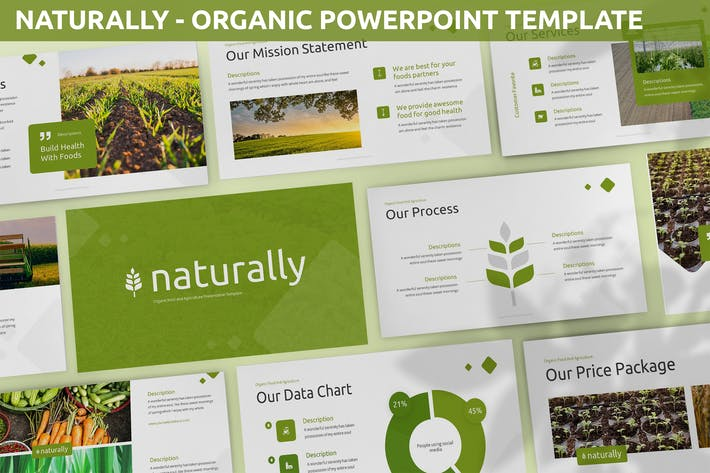 Естественно - Органический Шаблон Powerpoint