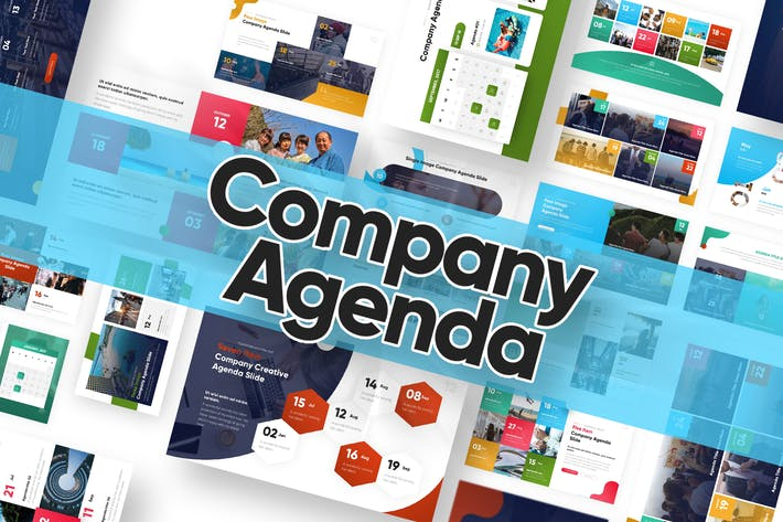 Thumbnail for Company Agenda Powerpoint Template