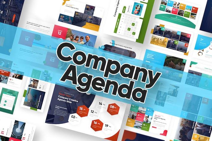 Thumbnail for Powerpoint-Vorlage für Unternehmensagenda