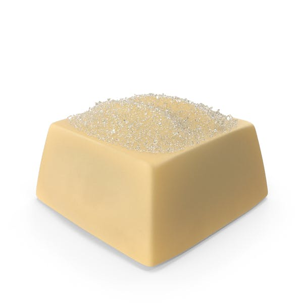 Square White Chocolate Candy with Sugar