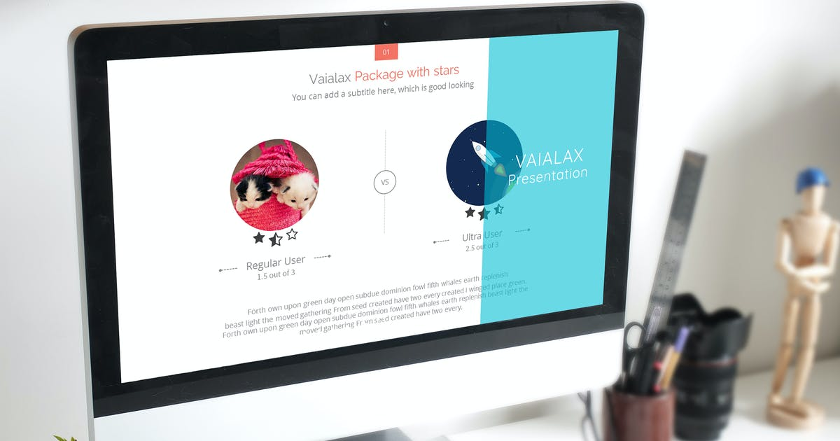 Download Vaialax Creative Keynote Presentation Template by Avagon