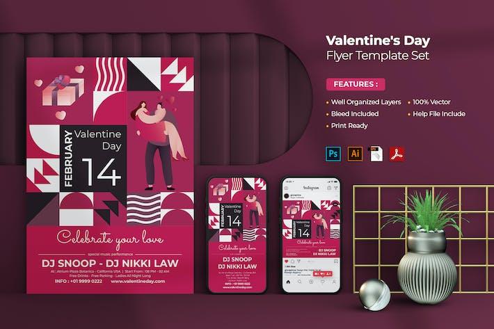 Thumbnail for Valentine's Day Flyer - Instagram Post & Stories