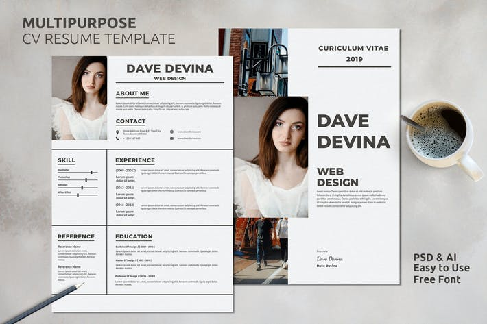 Thumbnail For Resume CV Template Vol 24