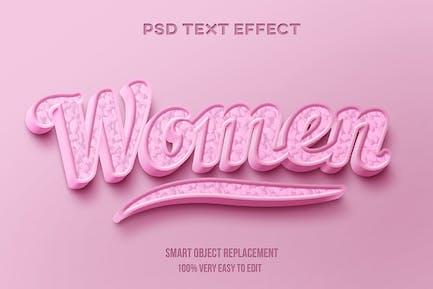 Женский розовый текстовый эффект