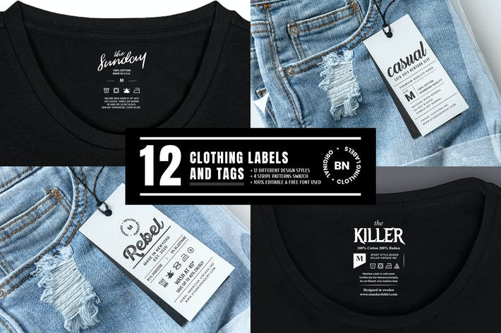 Thumbnail for 12 Clothing Labels and Tags